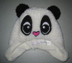 Шапка панда на девочку 2-4 года