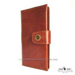Большой вместительный тревел Travel-портмоне ручной работы из натуральной к