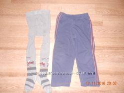 штаны спортивные колготы Дюна и флисовые штаны р. 110-116