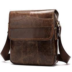 Кожа. Стильная сумка. Средний размер. Коричневый