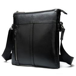 Кожа. Качественная сумка Corner . Черный