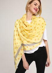 Женский легкий шарф. Горох. Арт  B2-15