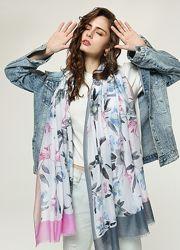 Длинные женские шарфы с цветами арт. B4-9