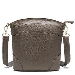 Кожа. Качественная сумочка на плечо. Много отделов. 6 цветов