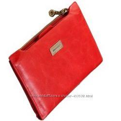 Кожа. Стильный кошелечек. Красный. Кофе. Рыжий. Беж. Черный
