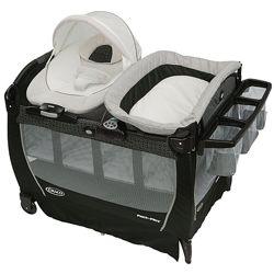 Манеж кровать с переносной колыбелью Graco Snuggle Suite LX Pierce