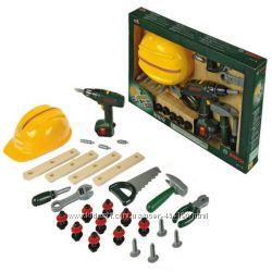 Детский набор инструментов с с каской и шуруповертом BOSCH Klein 8418