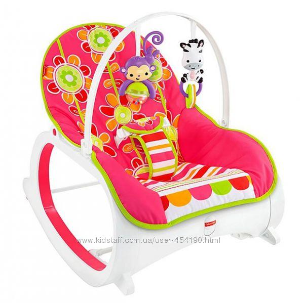 Кресло качалка шезлонг Цветочные конфетти Fisher-Price CMR19