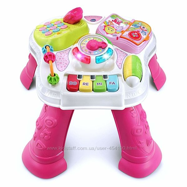 Развивающий музыкальный столик Розовый VTech Sit-to-Stand Learn