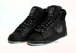 Кожаные хайтопы Adidas Respect M. E. Стелька 25, 5 см