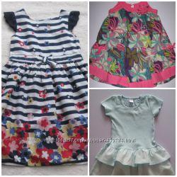Платья, сарафаны летние M&Co, F&F, H&M на 2-4 года