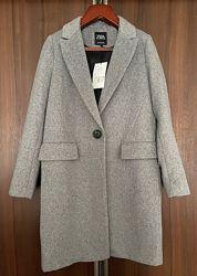 Пальто Zara, полушерсть, р. S-M