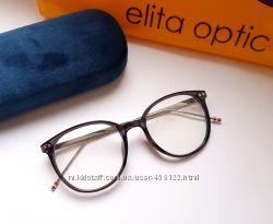 Женская круглая оправа очки  в ассортименте.  Установка любых линз