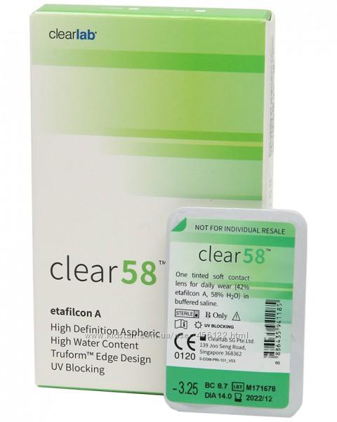 Контактные линзы  Все марки - на сайте. Clear 58 -Clear Premium  Air Optix