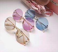 Безоправные  круглые очки - Kaizi линза - Polarized.  Идеальные в посадке