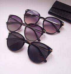 New 2020- Безоправные круглые женские очки - polarized- 3 цвета.