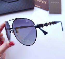 Стильные женские очки - aviator Gucci GG - polarized линза . Комплект