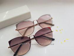 Женские безоправные очки Medici. Комплектация- футляр и салфетка
