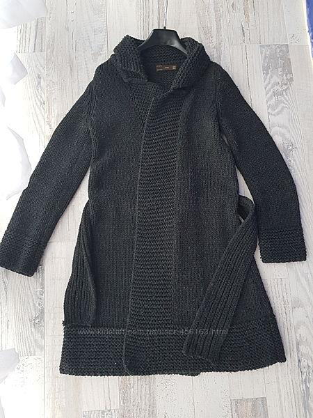 Пальто вязаное Zara