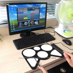 Konix электронный силиконовый барабан USB складной