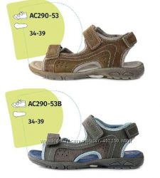 Подростковая летняя обувь. Кожаные сандалии АС290-53, D. D. Step 34-39р