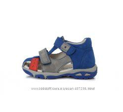 Кожаные босоножки, сандалии D. D Step 19-24р Летняя обувь. АС290-7003А