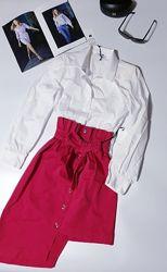 Хит продаж комплект юбка, блузка, италия, размер L