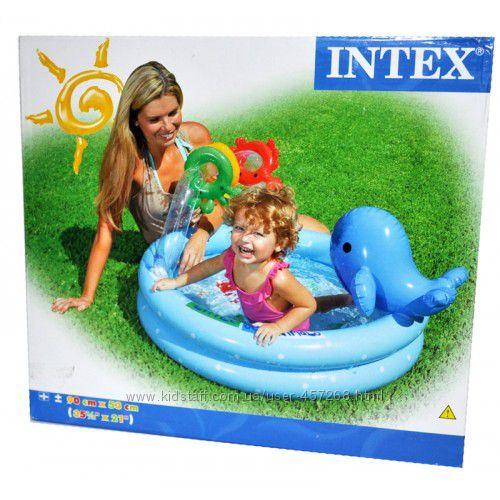 Скидка Intex Детский надувной бассейн Дельфинчик 90х53 см от 1 года