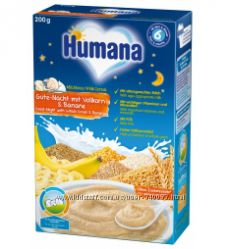 Молочная и безмолочная каша Humana Хумана