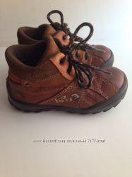 Итальянские демисезонные утепленные ботинки Bama, кожа, р. 25 стелька 16 см