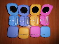 Дорожный набор для контактных линз пинцет, контейнер, баночка