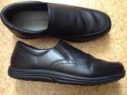 Кожаные школьные туфли F&F, размер 36