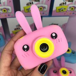 Детский цифровой фотоаппарат Smart Kids Camera 3 серии Кролик розовый цвет