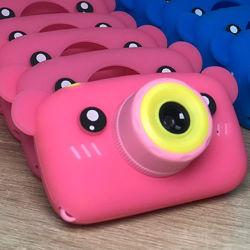 Детский цифровой фотоаппарат Smart Kids Camera 3 серии Мишка розовый цвет