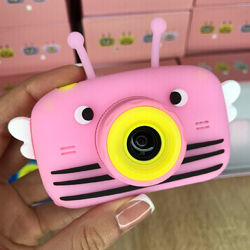 Детский цифровой фотоаппарат Smart Kids Camera с фронтальной камерой. Pink