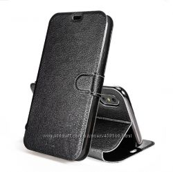 3a3b814a9bd1 Кожаный чехол книжка Baseus Simple Leather для iPhone XS X 10, 250 ...