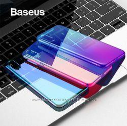 Силиконовый чехол градиент Baseus Glow для Apple iPhone X, XS, XS Max