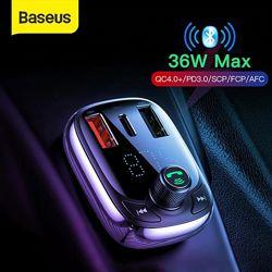 Автомобильный FM ФМ трансмиттер Baseus S13 T Typed Quick Charger