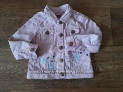 Розовая джинсовая рубашка, джинсовка