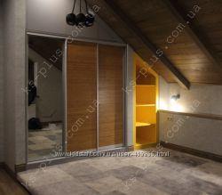 шкафы для мансарды и под лестницу