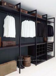 гардеробные системы в стиле лофт