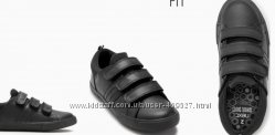 Next 24-42р. стильные натуральные кожаные туфли стандарт и широкая платформ