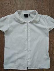 Блузка шкільна на короткий рукав р.128 Debenhams