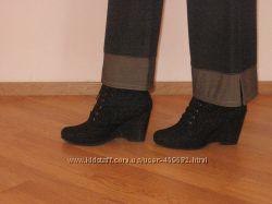 Деми ботиночки на танкетке 7 см, кожа. На размер 36