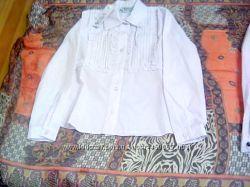 15d81c78811 Наличие распродажа Albero 134 белая блузка рубашка школьная форма ...