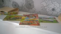 Bino Германия деревянные пазлы набор Транспорт