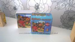 Деревянные кубики Союзмультфильм и  рамка вкладыш транспорт