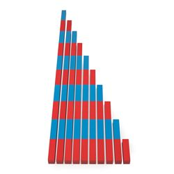 Новый Дидактический материал Математические штанги Монтессори деревянный