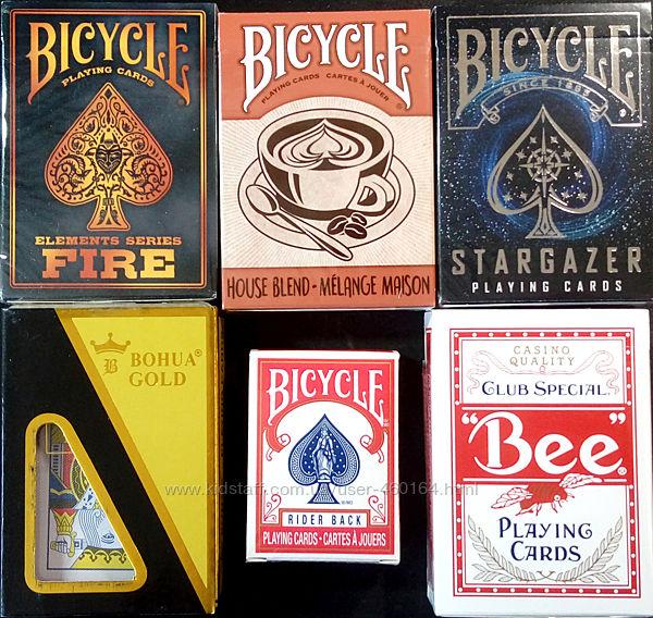 Карты Bicycle - 5шт, распакованные, оригинал Stargaze/Fire/Blend/Bee/Mini