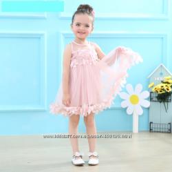 Ева Нарядное платье на девочку с апликацией